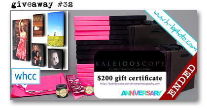 WHCC HB Photo Packaging Kaleidoscope giveaway Paperie Boutique Birthday