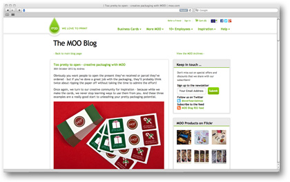 Moo blog October 2012