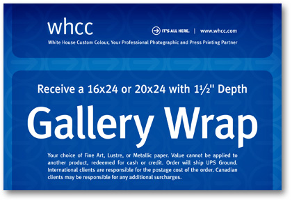 WHCC Gallery Wrap Canvas giveaway