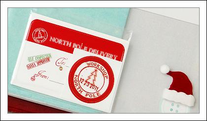 Moo postmark Christmas round sticker address label