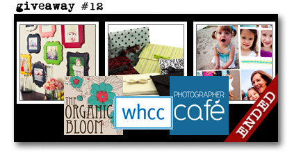 giveaway 12 WHCC Organic Bloom Photographer Cafe