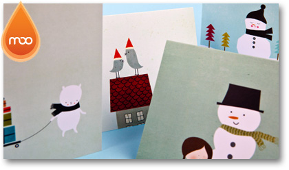 MOO Christmas card sale