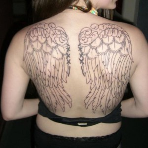 Back Angel Tattoos for Women