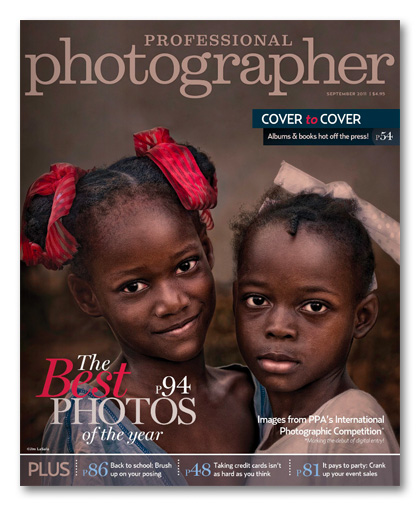 September 2011 Professional Photographer Magazine Cover