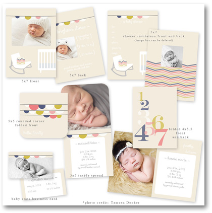 beyond red & green baby card template