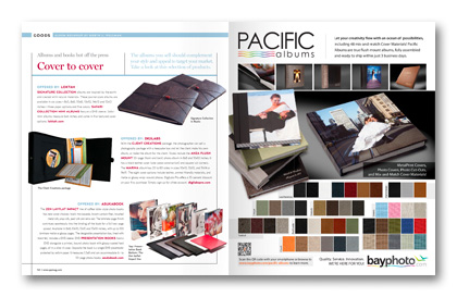 September 2011 Professional Photographer Magazine Goods column albums books