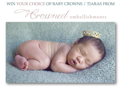 crowned embellishments giveaway newborn crown prop