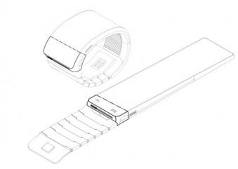 A drawing of Samsung's Galaxy Gear smartwatch, as shown in the company's trademark filing.