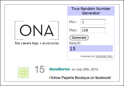 ONA camera insert prize contest