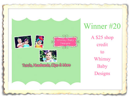 20 WHIMSY BABY DESIGNS