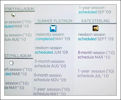 schedule lists