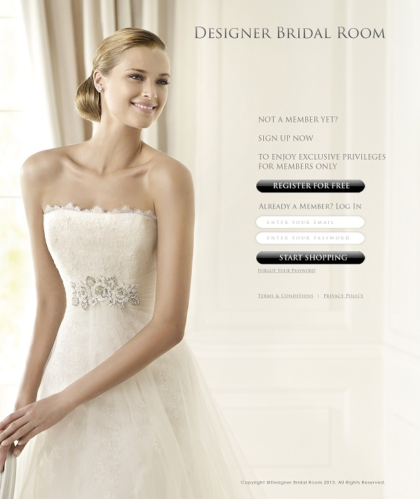 coverpage 150dpi - Designer Bridal Room Goes Online