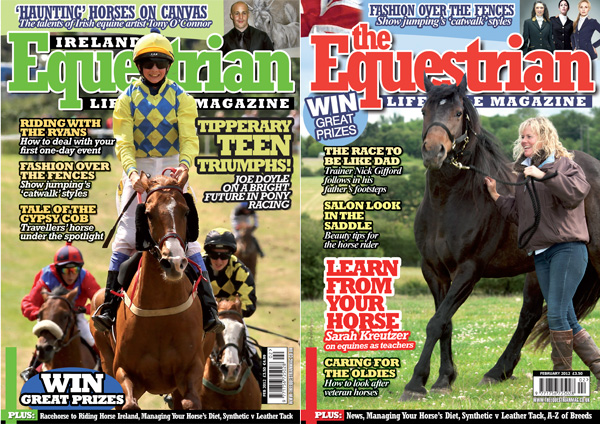 The Equestrian Magazine February 2012 Covers