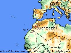 Large range map of Ouarzazat