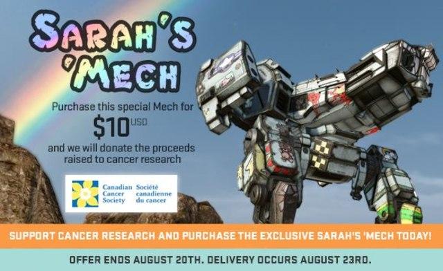 MechWarrior Online dev raises $100,000 for cancer research Thumbnail