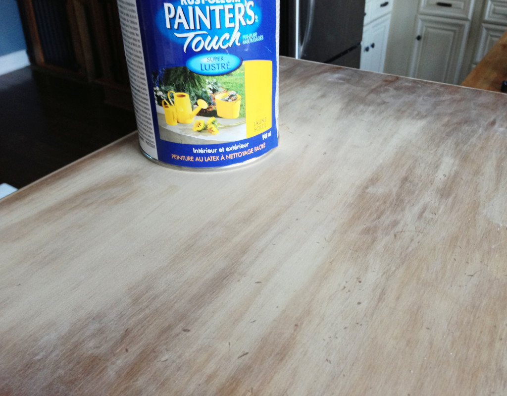 sun yellow paint DIY mini kitchen island yellow- 04