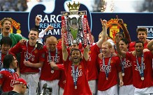 Ryan Giggs lifts the Premier League trophy last season - but can Manchester United repeat the feat under David Moyes?
