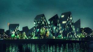 """""""The Iceberg"""" building project Aarhus, Denmark (isbjerget.com)"""