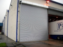 Large galvanised steel roller shutter