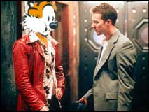Fight Club still featuring Hobbes the tiger