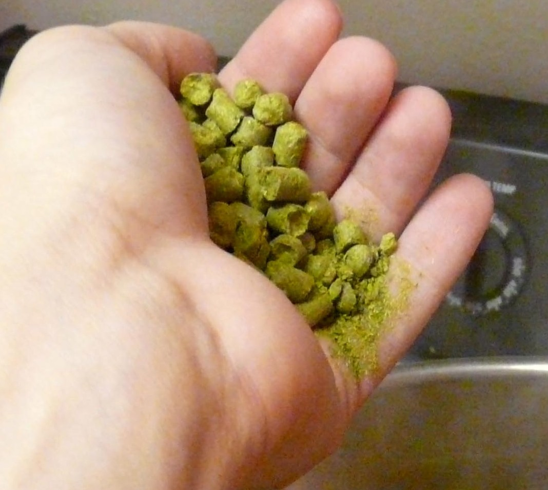Pelleted hops