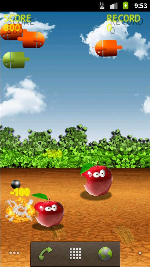 Bombs On Apples LWP v1.1
