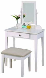 Crown Mark Iris Vanity Table and Stool
