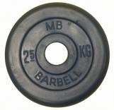 Обрезиненный диск  Barbell 26 мм 2,5кг
