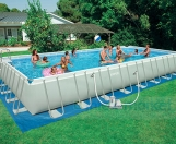 Бассейн каркасный Intex Rectangular Frame Pool 975х488х132 см 54988
