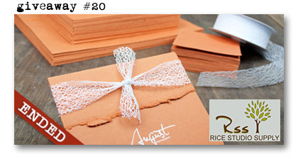 Paperie Boutique Birthday giveaway twenty