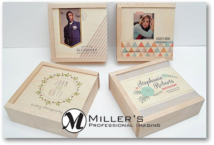 Millers USB wood box Luxe