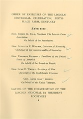 Order of exercises for 1909 dedicationjpeg