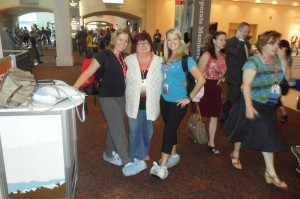 Heather Davis with the women from Simple K12
