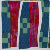 <center>Both pairs sewn together and ironed.</center>