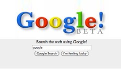 PHOTO: Google.com as it appeared in 1999.