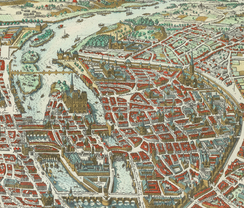 Merian map of Paris, 1615