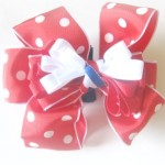 Patriotic Polka Dot Bow