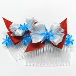 Red, White, and Blue Hair Combs
