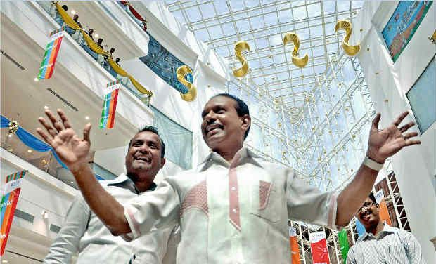 M.A. Yusuffali at the LuLu shopping mall in Kochi on Saturday.