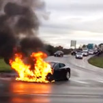Car Fire a Test for High-Flying Tesla