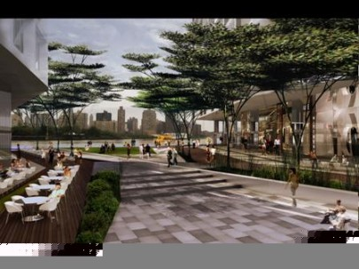 Photo Courtesy of Studio V Renderings of a proposed development project in Hallets Point in Astoria, which would turn the area into a vibrant retail and residential area.