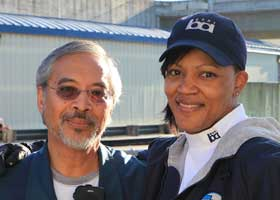 Arnold Taganap and Cyn Coogler,  Train Operators