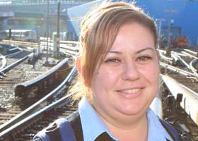 Sarah Gwaltney, Train Operator