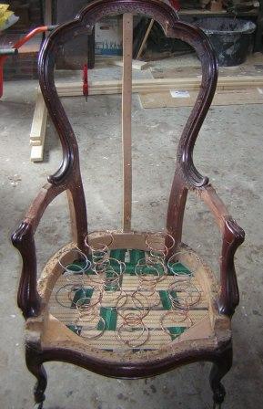 fauteuil opnieuw bekleden