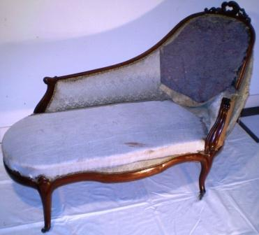 Chaise-longue-oude stof