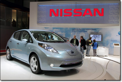 Leaf electric car from Nissan