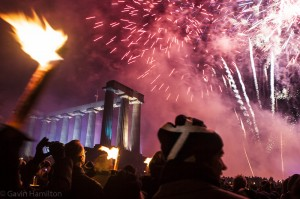 Edinburgh's Hogmanay torchlight procession