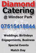 Click to view further information about the range of services offered by DIAMOND CATERING at Windsor Park