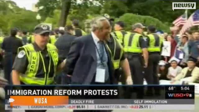 Lawmakers Arrested at Immigration Reform Demonstration