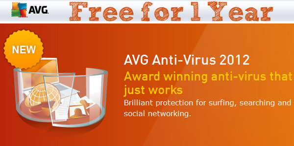 giveaway avg antivirus 2012 free for 1 year